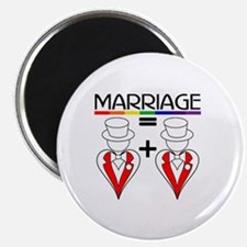 MARRIAGE EQUALS HEART PLUS HE Magnet