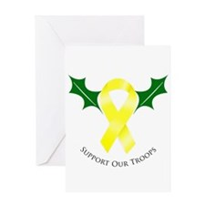 Support Troops Yellow Ribbon Greeting Card