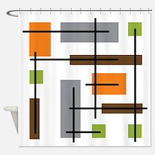 Cubicle Atomic Era Art Shower Curtain