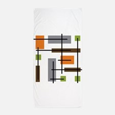 Cubicle Atomic Era Art Beach Towel