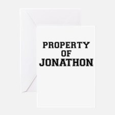 Property of JONATHON Greeting Cards
