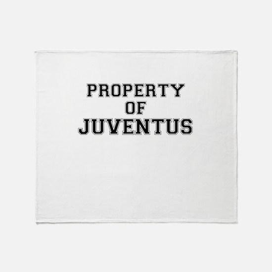 Property of JUVENTUS Throw Blanket