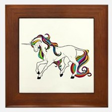 Funny Horse girls Framed Tile