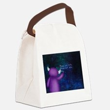 Hugs, Not Hits Canvas Lunch Bag
