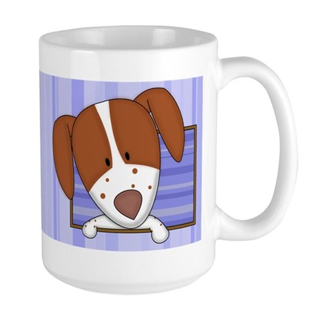Cartoon Brittany Spaniel Large Mug