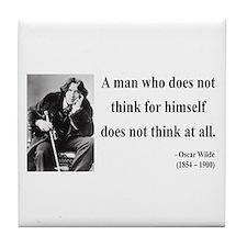 Oscar Wilde 7 Tile Coaster