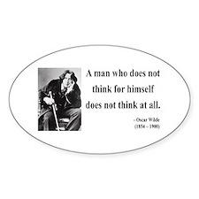 Oscar Wilde 7 Oval Decal