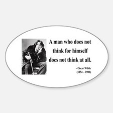 Oscar Wilde 7 Oval Decal