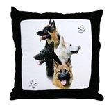 German shepherd Cotton Pillows