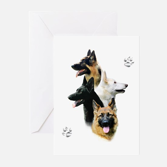 GSD Quad Greeting Cards (Pk of 10)