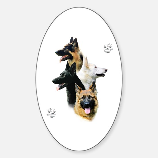 GSD Quad Oval Decal