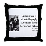Oscar Wilde 8 Throw Pillow