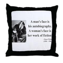 Oscar Wilde 8 Throw Pillow