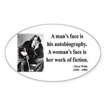Oscar Wilde 8 Oval Sticker