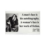 Oscar Wilde 8 Rectangle Magnet (10 pack)