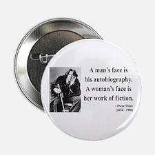 """Oscar Wilde 8 2.25"""" Button"""