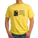 Oscar Wilde 8 Yellow T-Shirt