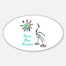 Save Our Planet Oval Decal