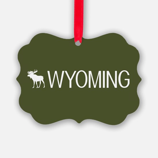 Wyoming: Moose (Mountain Green) Ornament