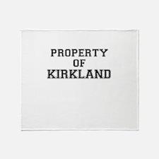 Property of KIRKLAND Throw Blanket