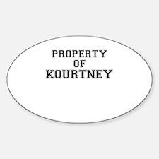 Property of KOURTNEY Decal