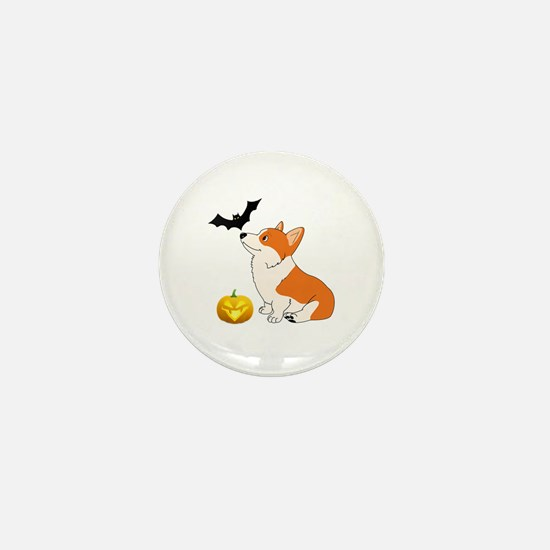 Halloween Corgi Mini Button (10 pack)