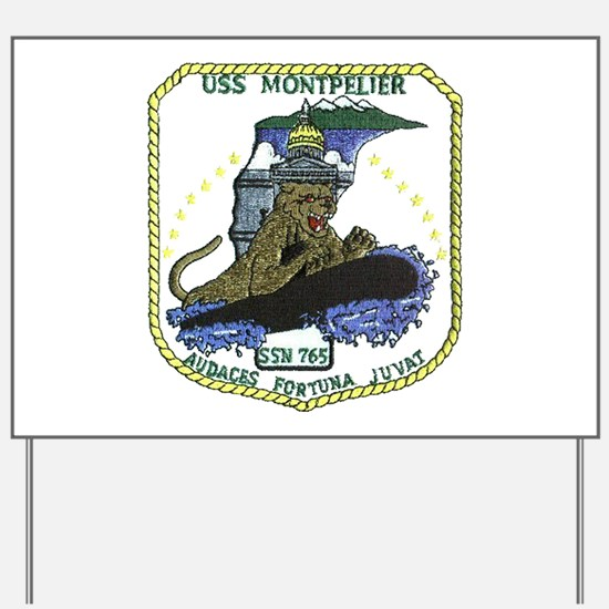 USS Montpelier SSN 765 Yard Sign