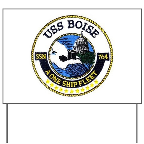 USS Boise SSN 764 Yard Sign