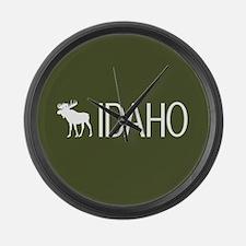 Idaho: Moose (Mountain Green) Large Wall Clock