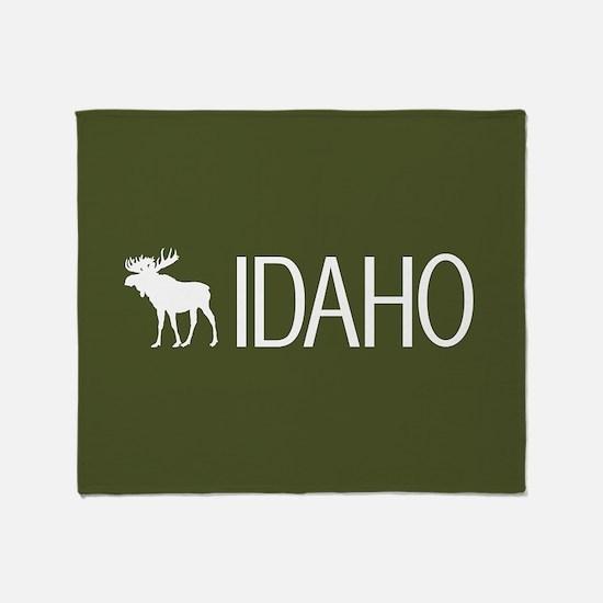 Idaho: Moose (Mountain Green) Throw Blanket