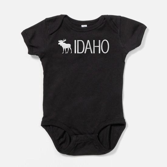 Idaho: Moose (White) Baby Bodysuit