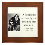 Oscar Wilde 9 Framed Tile