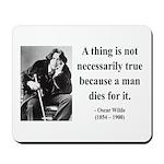 Oscar Wilde 9 Mousepad