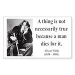 Oscar Wilde 9 Rectangle Sticker