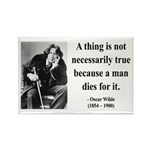 Oscar Wilde 9 Rectangle Magnet