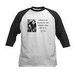 Oscar Wilde 9 Kids Baseball Jersey