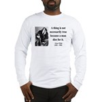 Oscar Wilde 9 Long Sleeve T-Shirt