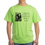Oscar Wilde 9 Green T-Shirt