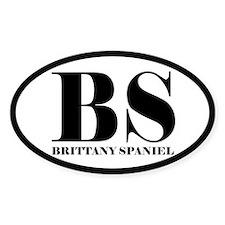 BS Abbreviation Brittany Spaniel Decal
