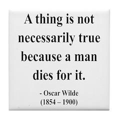 Oscar Wilde 9 Tile Coaster