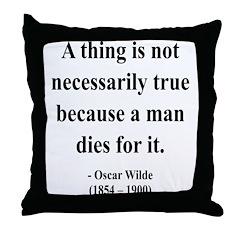 Oscar Wilde 9 Throw Pillow