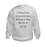 Oscar Wilde 9 Kids Sweatshirt
