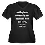 Oscar Wilde 9 Women's Plus Size V-Neck Dark T-Shir