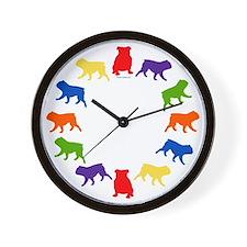 Bulldog Wall Clock