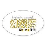 Major Art Attack 3 Oval Sticker