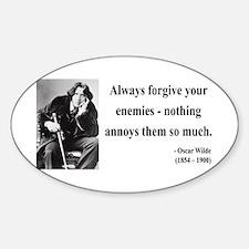 Oscar Wilde 10 Oval Decal