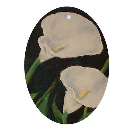 Calla Lily Oval Ornament