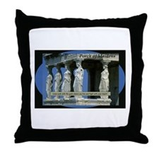 Porch of Maidens Throw Pillow