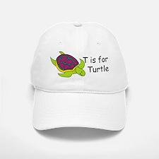 T is for Turtle Baseball Baseball Cap
