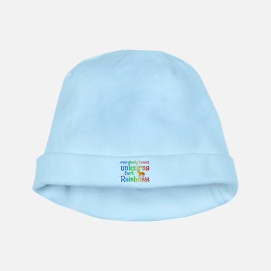 Unicorns far Rainbows baby hat